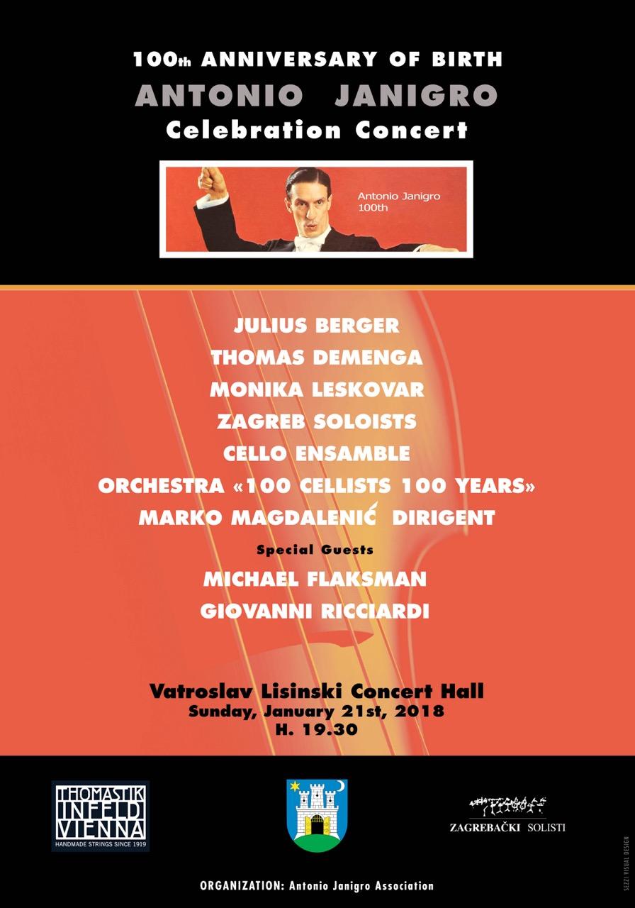 Antonio Janigro commemoration poster