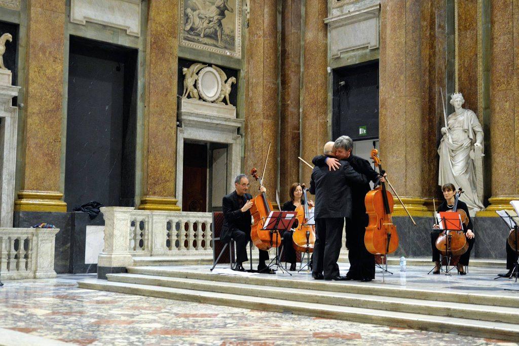 Giovanni Ricciardi e Massimo Coco Palazzo Ducale Genova Italian Cello Consort